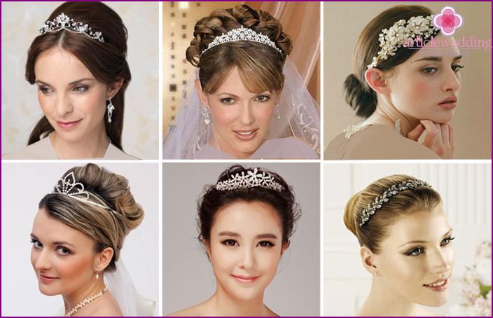 ( تصاویری از مدل های تاج عروس )