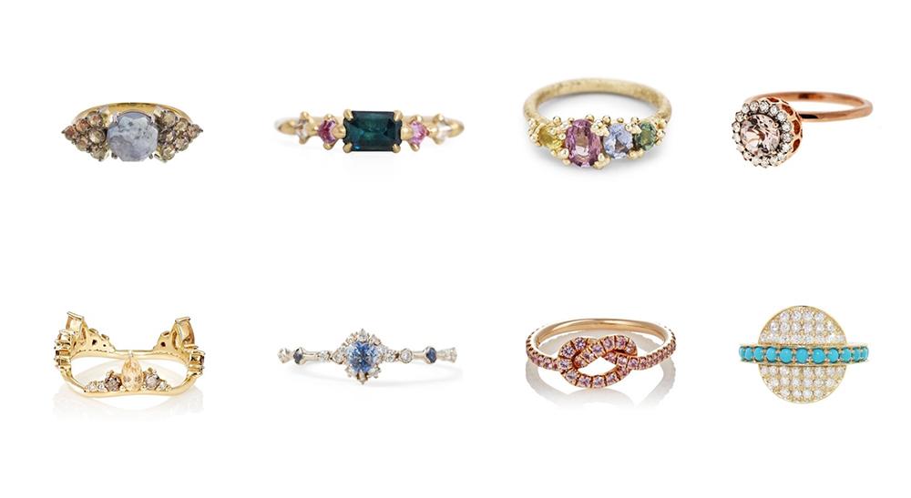 حلقههایی با سنگ و جواهر