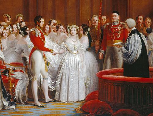 ملکه ویکتوریا سنت شکنی کرد و از رنگ سفید برای لباس عروسش استفاده کرد