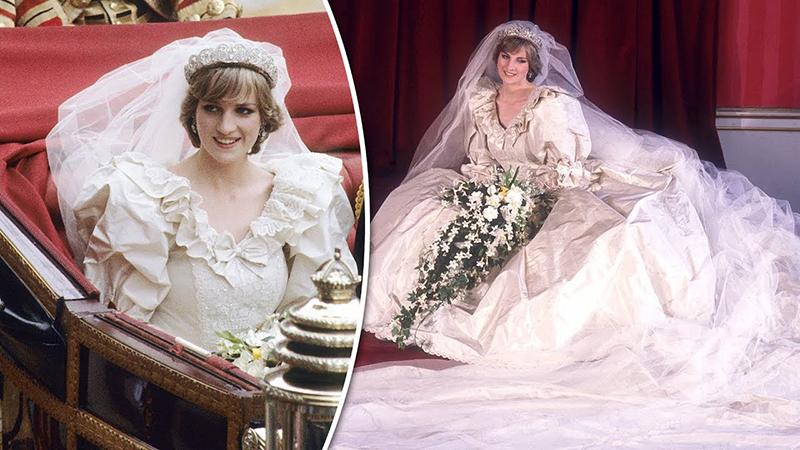لباس عروسی پرنسس دایانا نیز بخاطر محبوبیت ایشان بین مردم، در کانون توجهات قرار گرفت