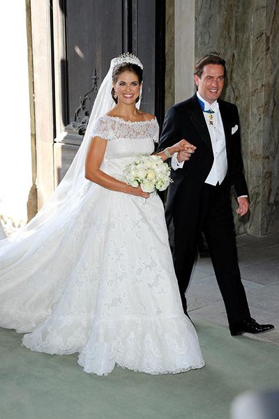 پرنسس مادلین فرزند ملکه سوئد که اخیراً ازدواج کرد.