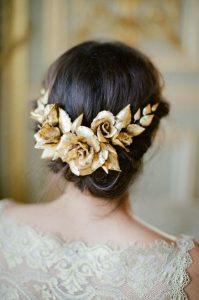مدل تاج گل طلایی