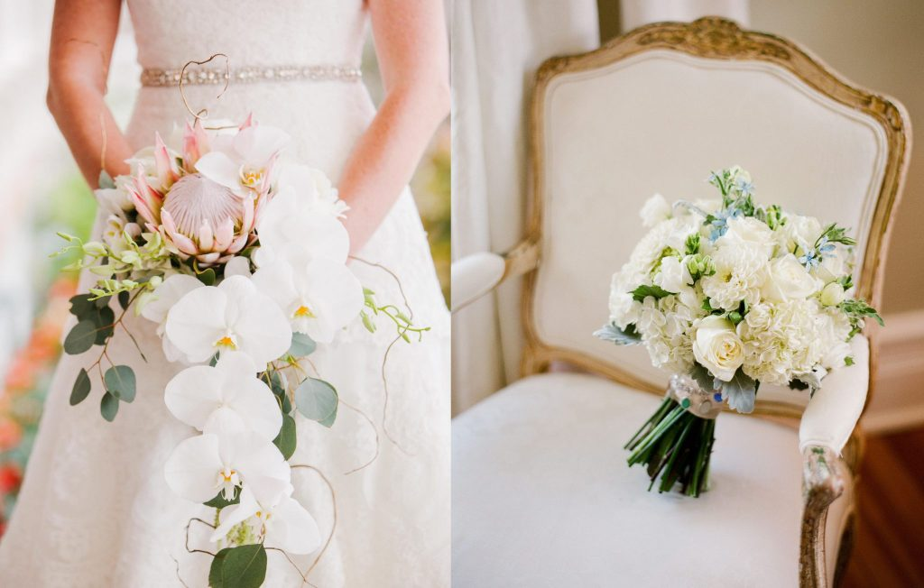 هماهنگی مدل دسته گل عروس با لباس