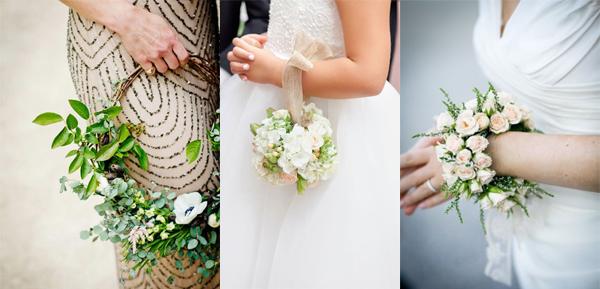استفاده از حلقه گل دست به جای دسته گل عروس