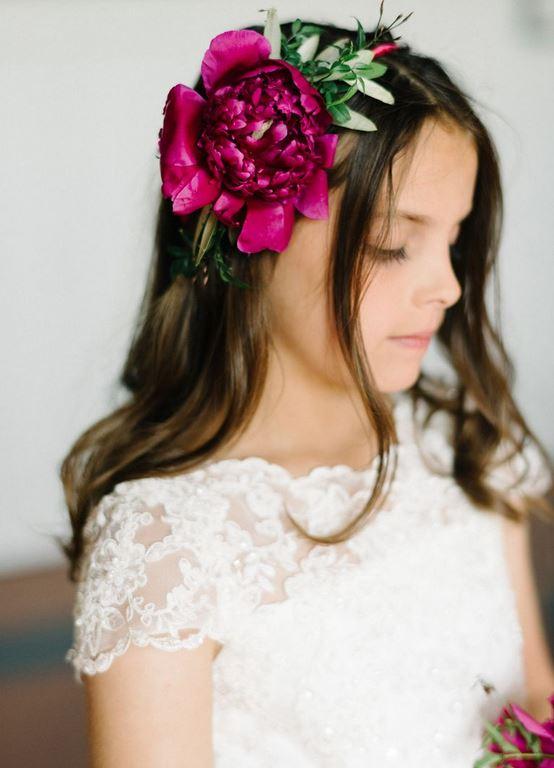 هدبند گل عروس