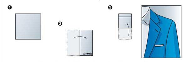 مدلی از تا زدن پوشت تای ریاستی/ مربعی