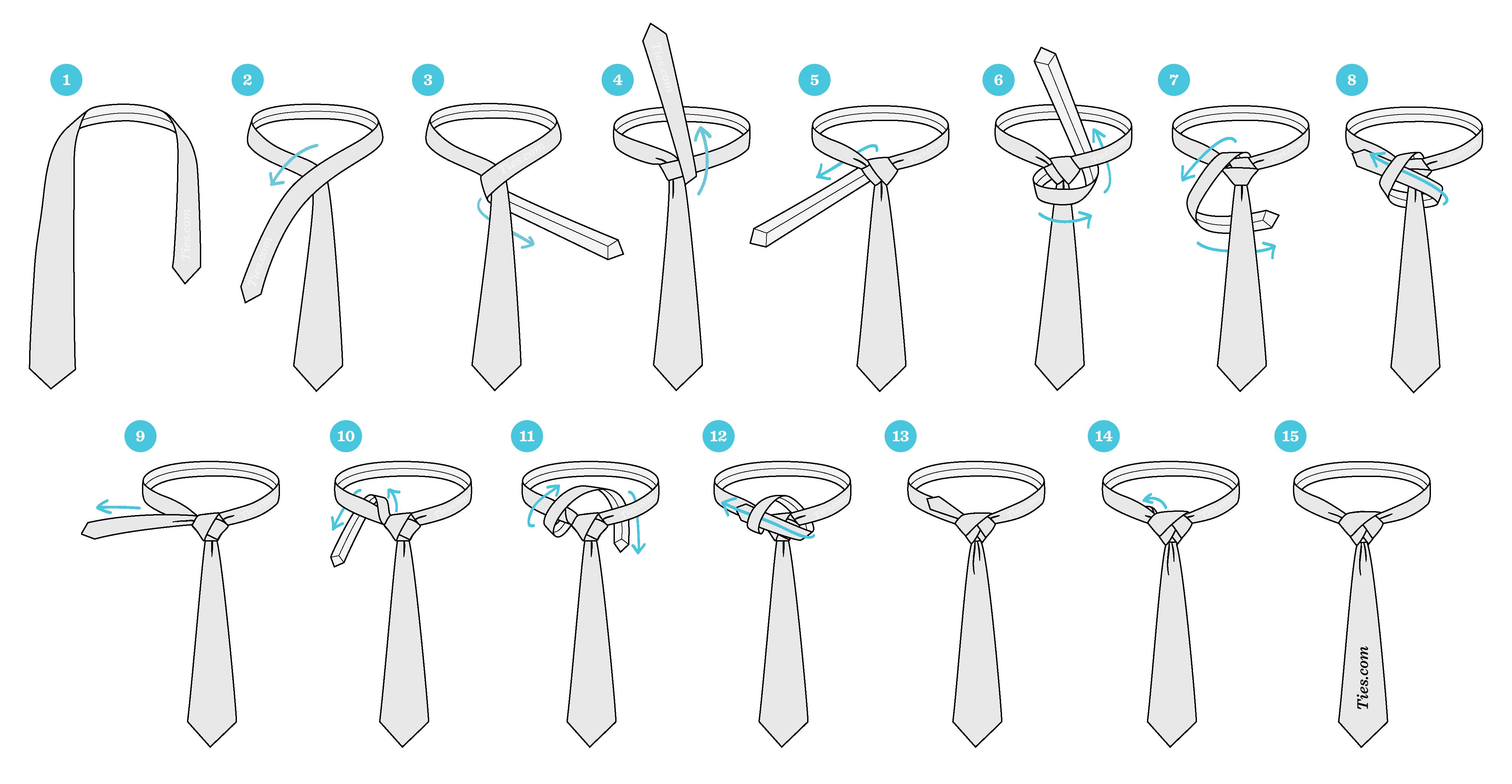 چگونگی بستن گره کراوات الدریج
