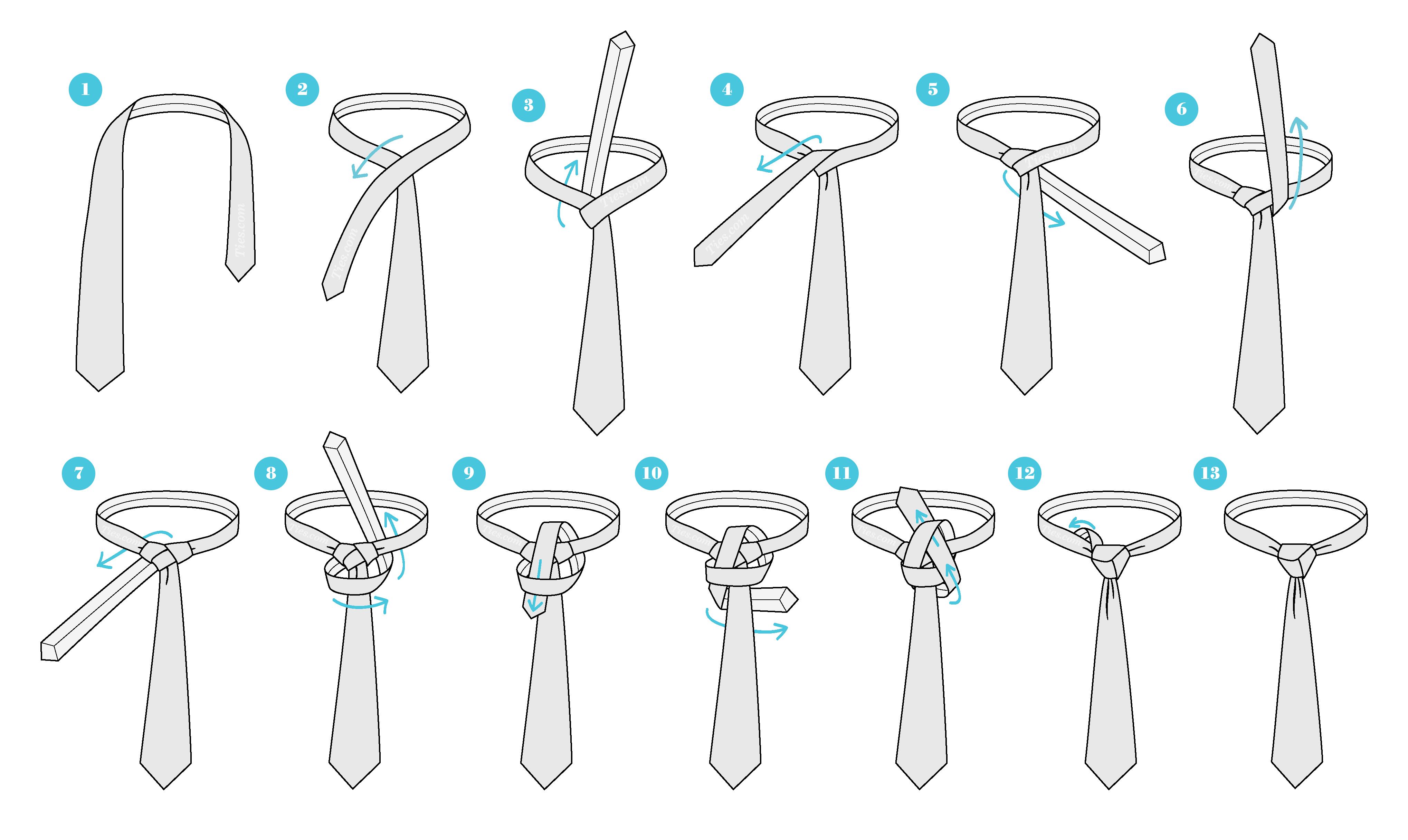 نحوه بستن گره کراوات ترینتی