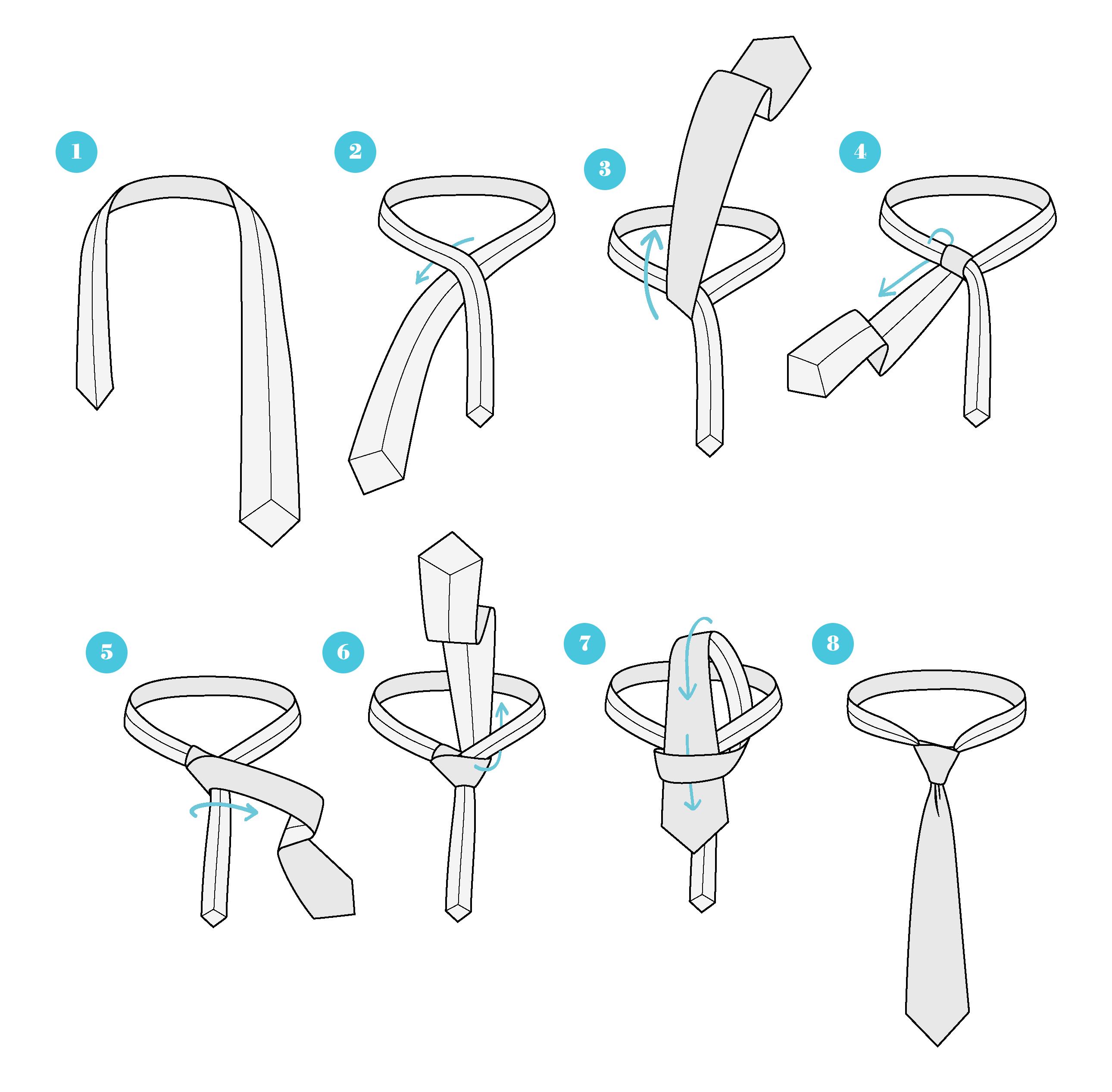 چگونگی بستن گره کراوات پرات