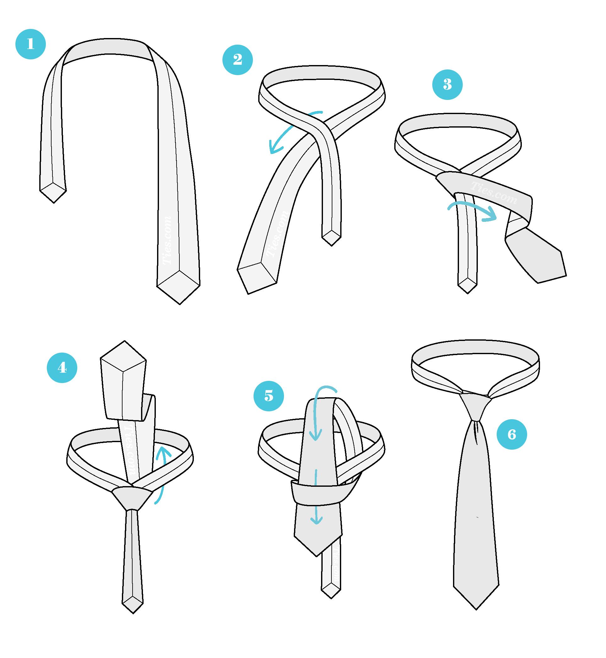 نحوه بستن کراوات با گره ساده