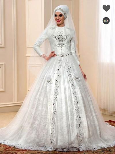 مدل می بلند تابستانه مدل لباس عروس پوشیده برای عروس محجبه - لباس عروس اسلامی ...
