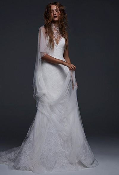 لباس عروس حریر و دانتل