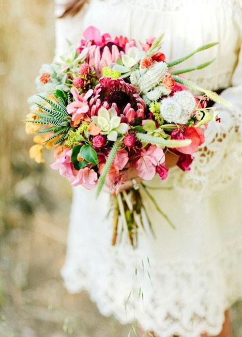 برای ترکیب دسته گل عروس کاکتوس ها را دسته کم نگیرید