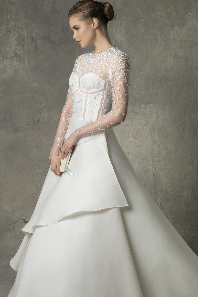 لباس عروسی از برند Ángel Sánchez