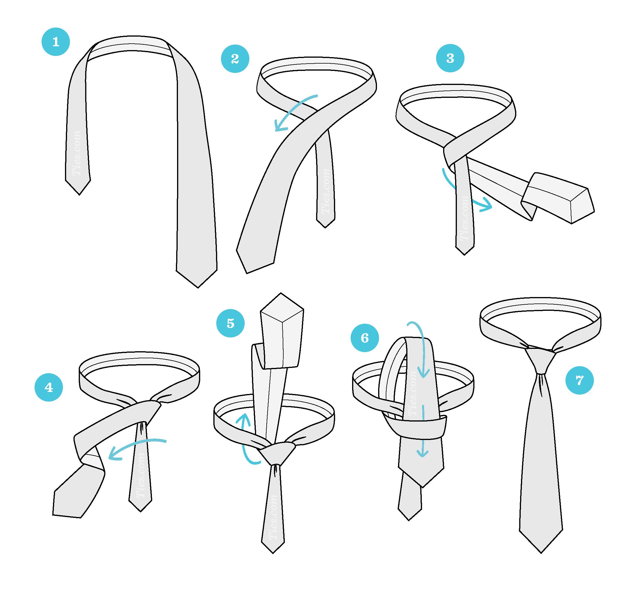 آموزش چگونگی گره کراوات چهار در دست