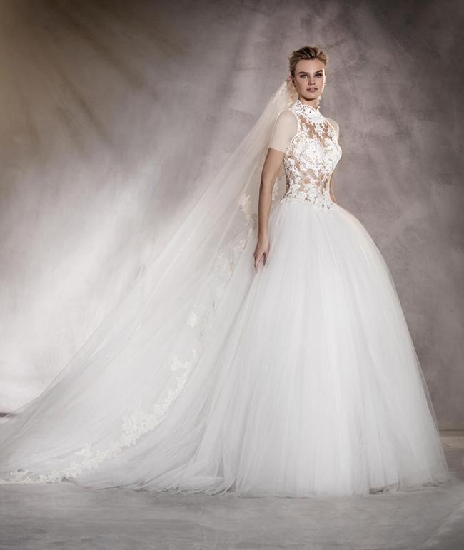 لباس عروس یقه هارتلی