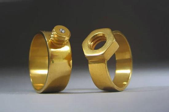 مدل حلقه ازدواج پیچ و مهره ای