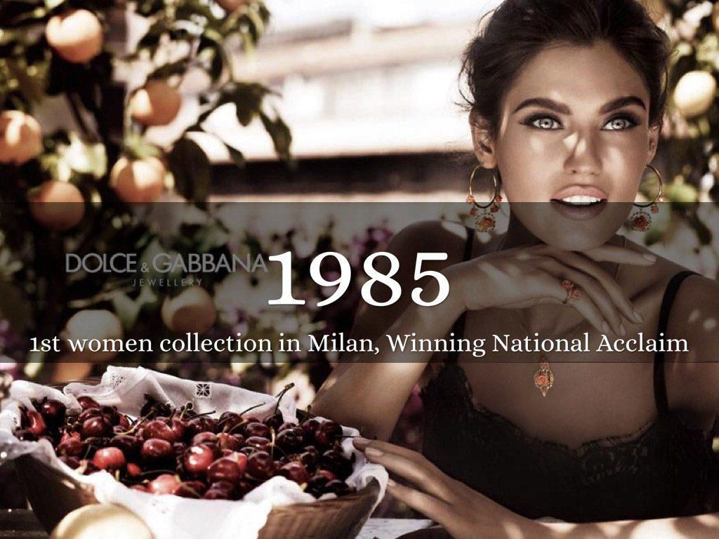 برند دولچه اند گابانا برای اولین بار توسط دو طراح اینالیایی در سال 1985 در میلان آغاز به کار کرد.
