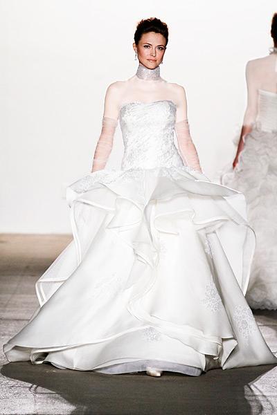 لباس عروس چند دامنه