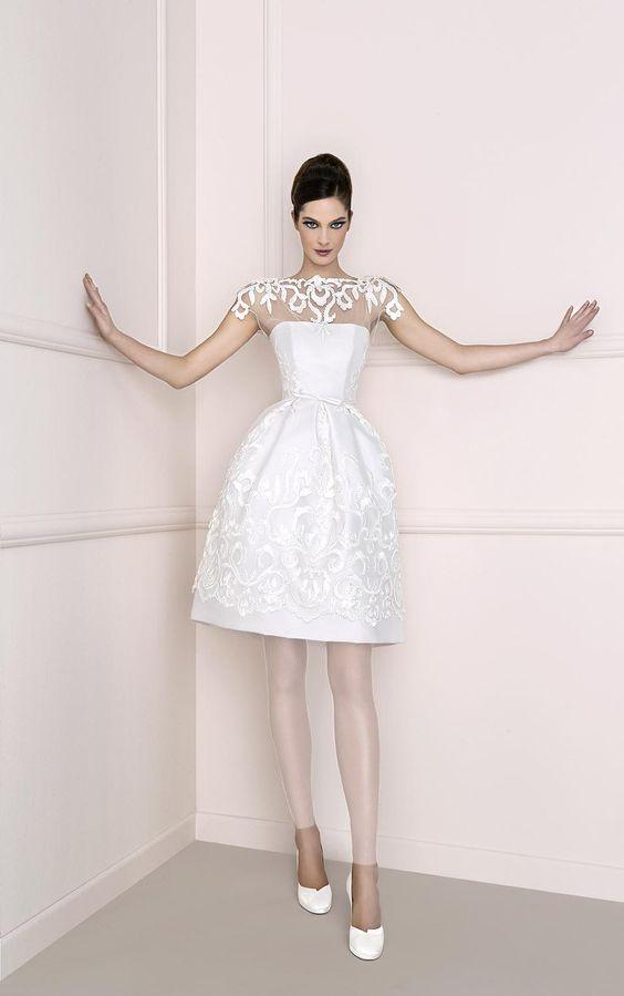 لباس عروس کوتاه بالای زانو