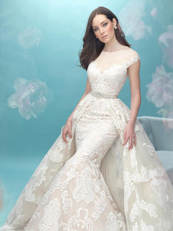 مدل لباس عروس مناسب اندامهایی با شانه پهن