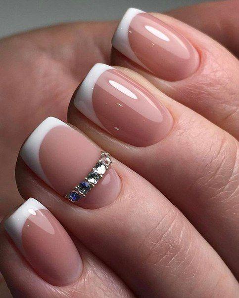 فرنچ مدلی پیشنهادی برای طراحی ناخن عروس