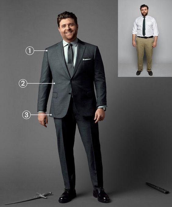 کت شلوار مناسب برای افراد چاق