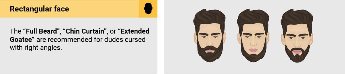 پیشنهاد انواع ریش مخصوص صورتهای مستطیل شکل