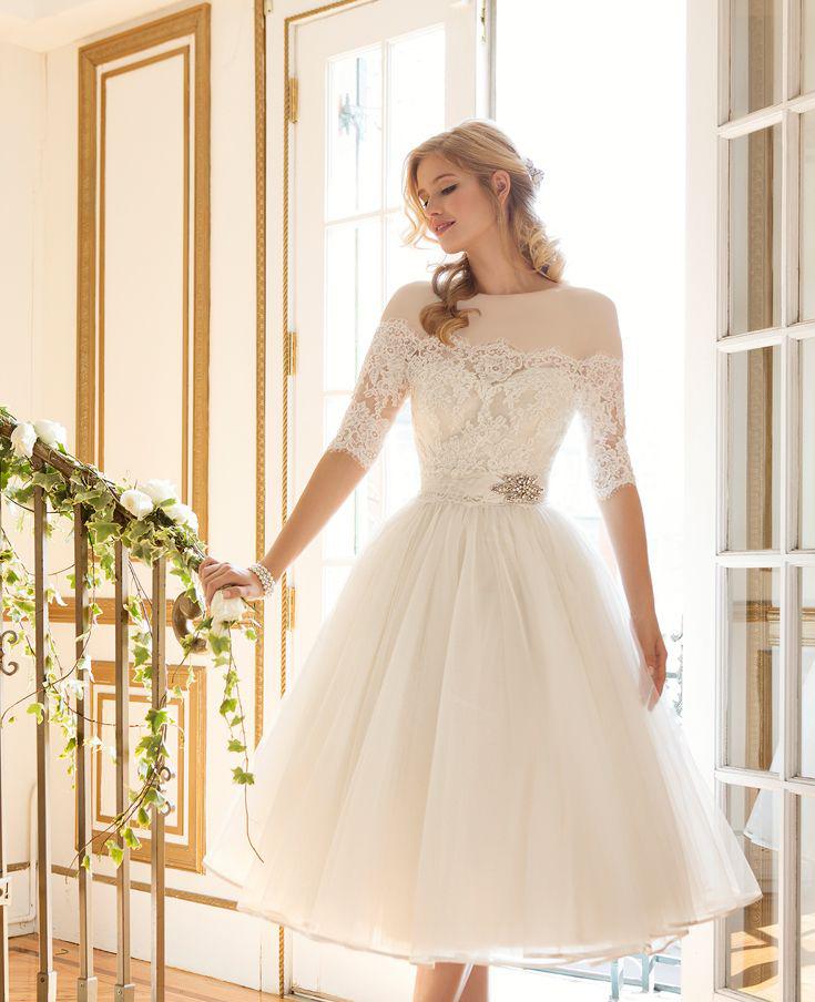لباس عروس کوتاه پف دار
