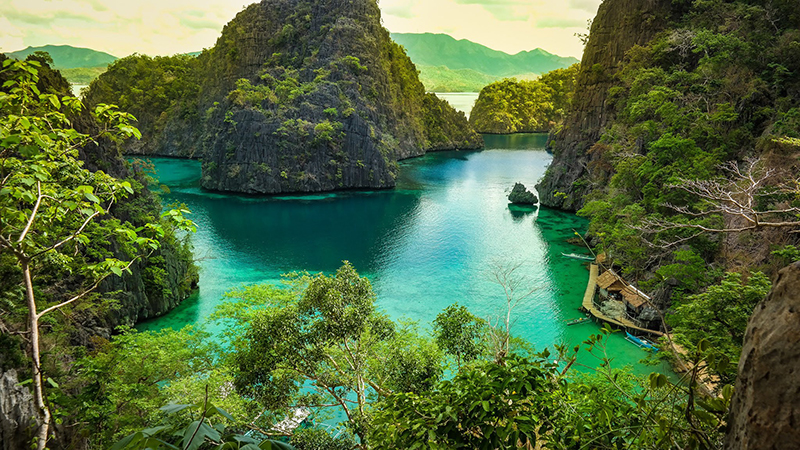 سواحلی با شن های سفید و صخره های مرجانی و جنگل های بسیار زیبا و وجود پارک ملی پورتو پرنسس بخشی از جاذبه جزیره پالاوان است