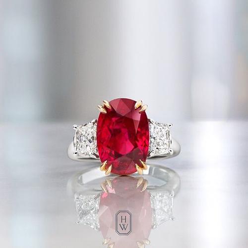 برج آتشین؛ یاقوت قرمز و الماس مناسب این برج است که نماد شجاعت و بزرگواری است.
