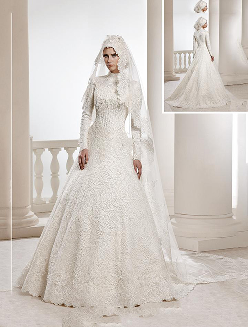 یک نقطۀ مشترک همۀ مدل ها، تور یا حجابی است که بر سر عروس انداخته می شود و بسته به نوع مدل، اندازه و تزئیناتی هماهنگ و متناسب با طرح لباس دارد.