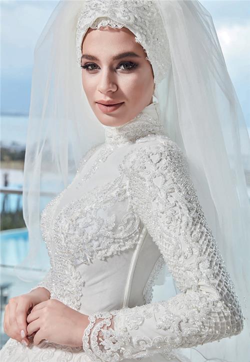 موبو مارکت اصل کانال-لباس-عروس-محجبه