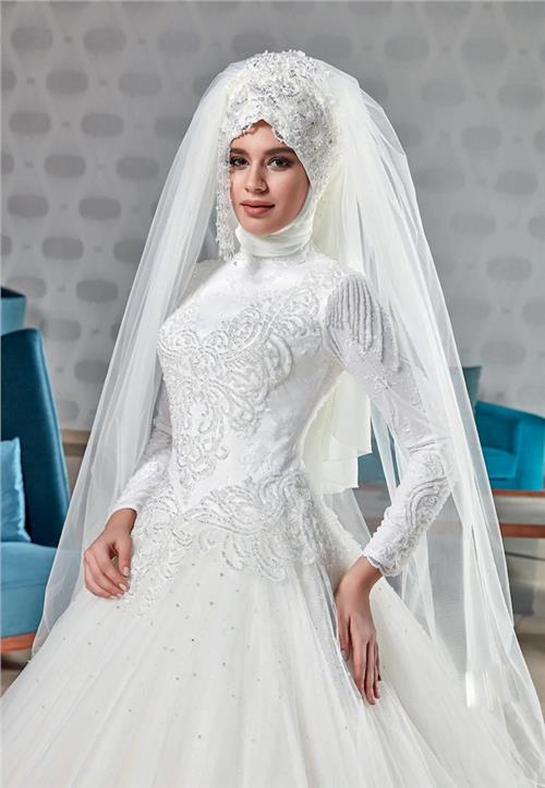 مدل لباس با پارچه تور مدل هایی بـه منظور لباس پوشیده عروس - لباس عروس با حجاب اسلامـی ... mimplus.ir