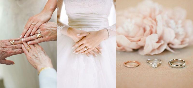 تهیۀ تصاویر متنوع از حلقه های ازدواجتان است.