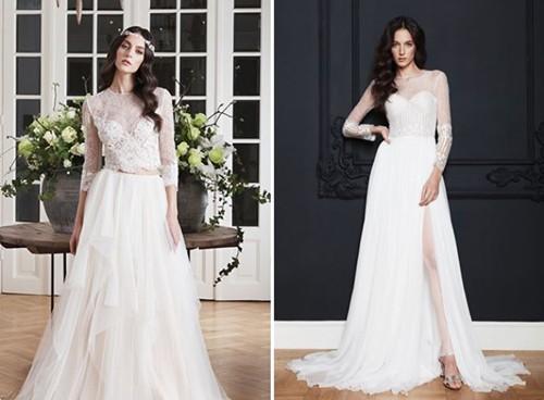 دامن برش A با انواع مدل های لباس عروس هماهنگ و متناسب است.