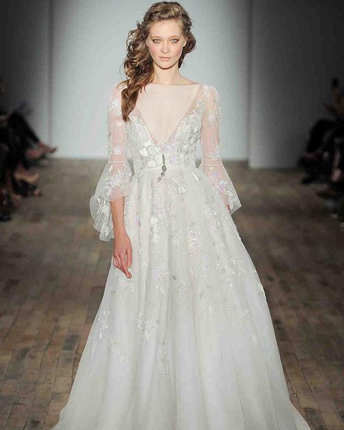 لباس عروس حریر آستین دار