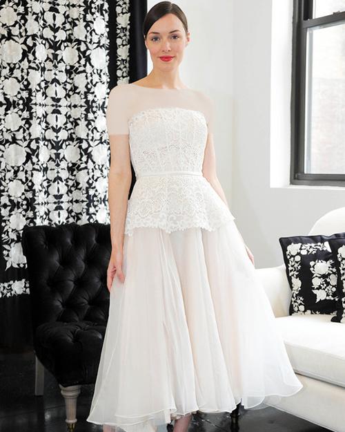لباس عروس دکلته کوتاه
