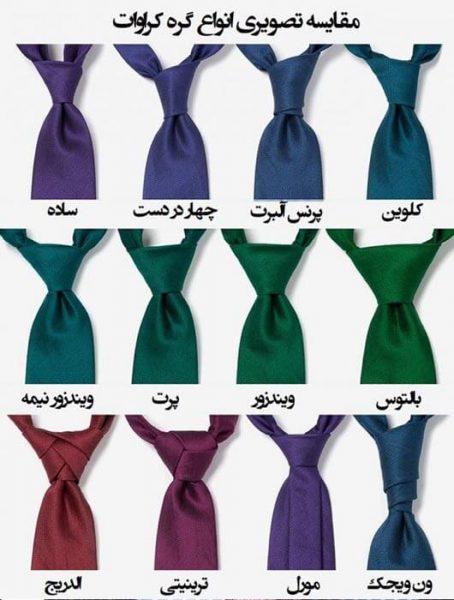 بستن کراوات در انواع گره ها ؛آموزش تصویری ساده ۲۰ روش بستن گره کراوات جدید و کلاسیک